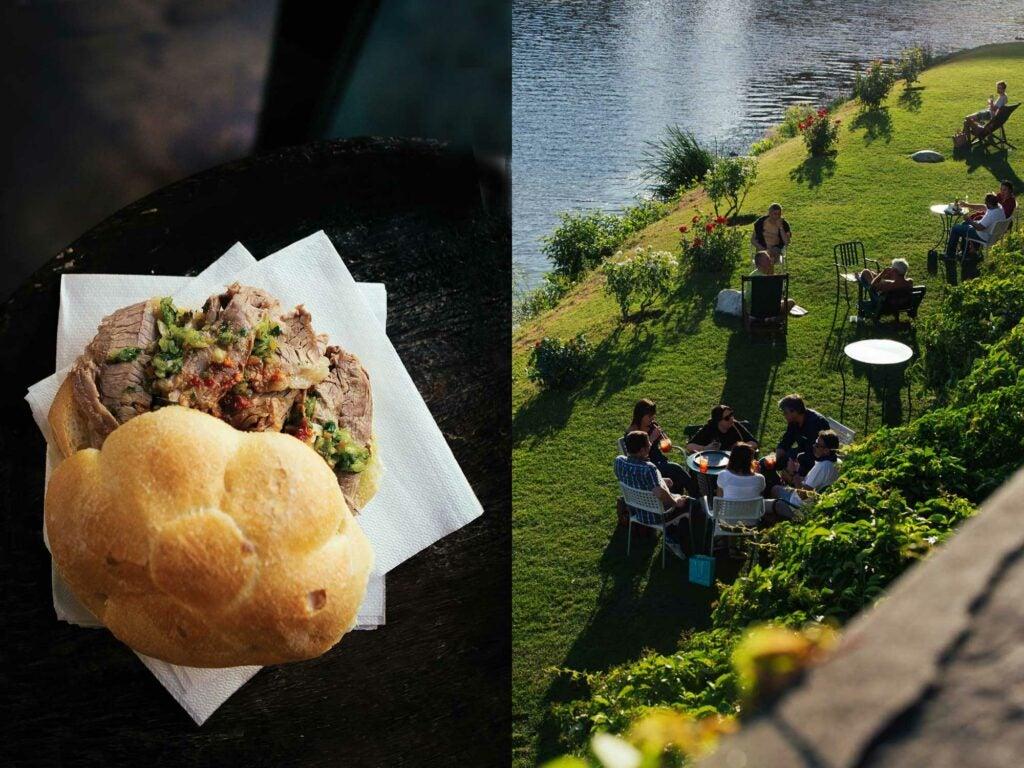 Florence tripe sandwich and landscape