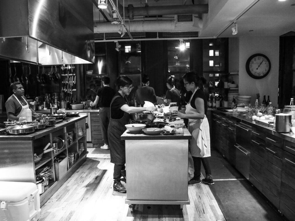 Chef Sohui Kim in the kitchen