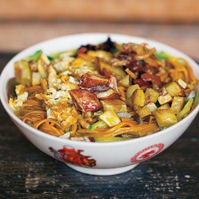 Mushroom Noodle Soup (Mo Gu Miantiao Tang)