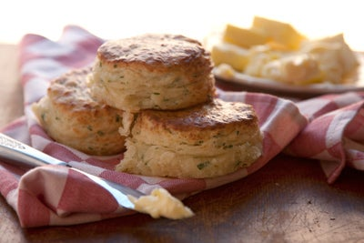 Postcard: Chive and Cheddar Biscuits