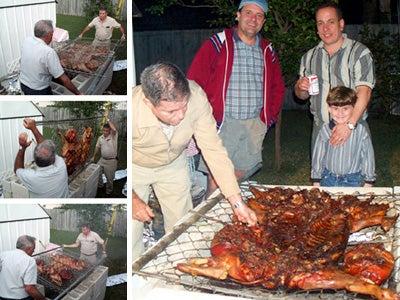 Christmas Pig Roast in July