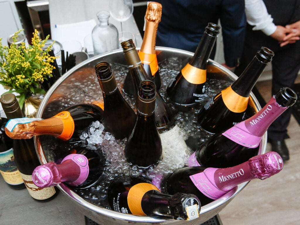 Mionetto Prosecco kept the glasses full and the party going at the opening of Scott Conant's Fusco.