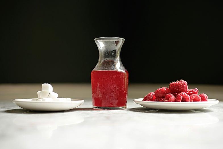 Fermented Raspberry Shrub