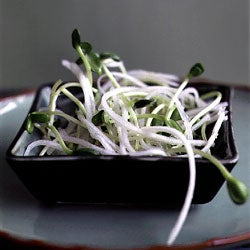 Daikon and Sunflower Sprout Salad