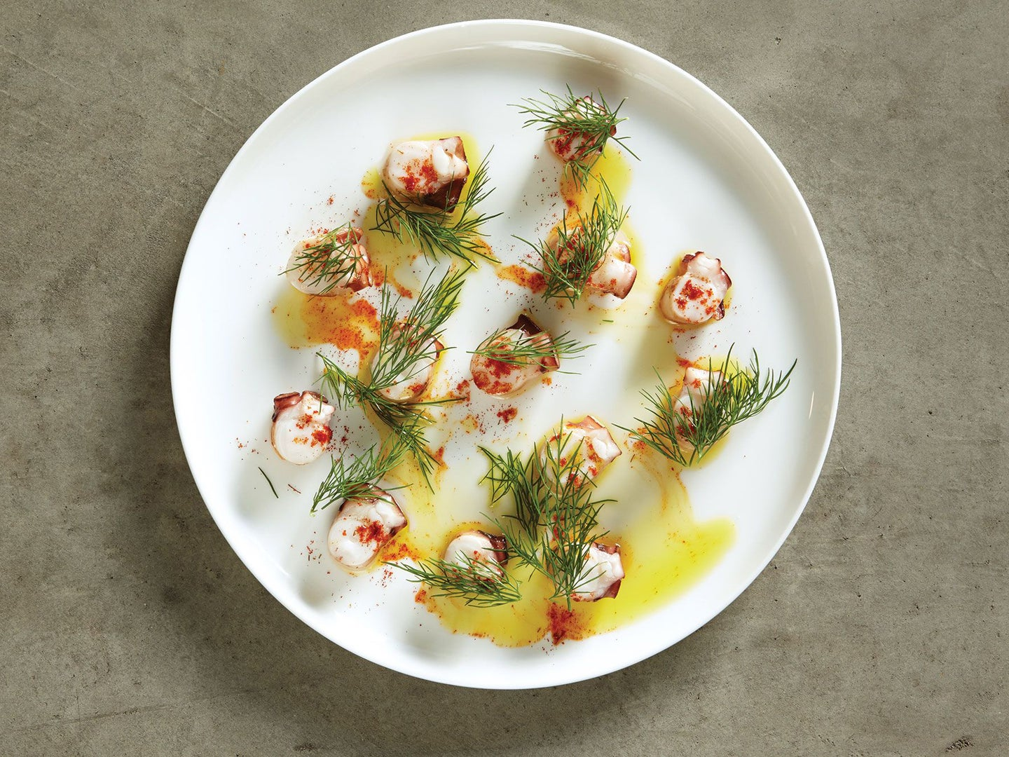 Seared Octopus with Fennel Pollen and Smoked Paprika