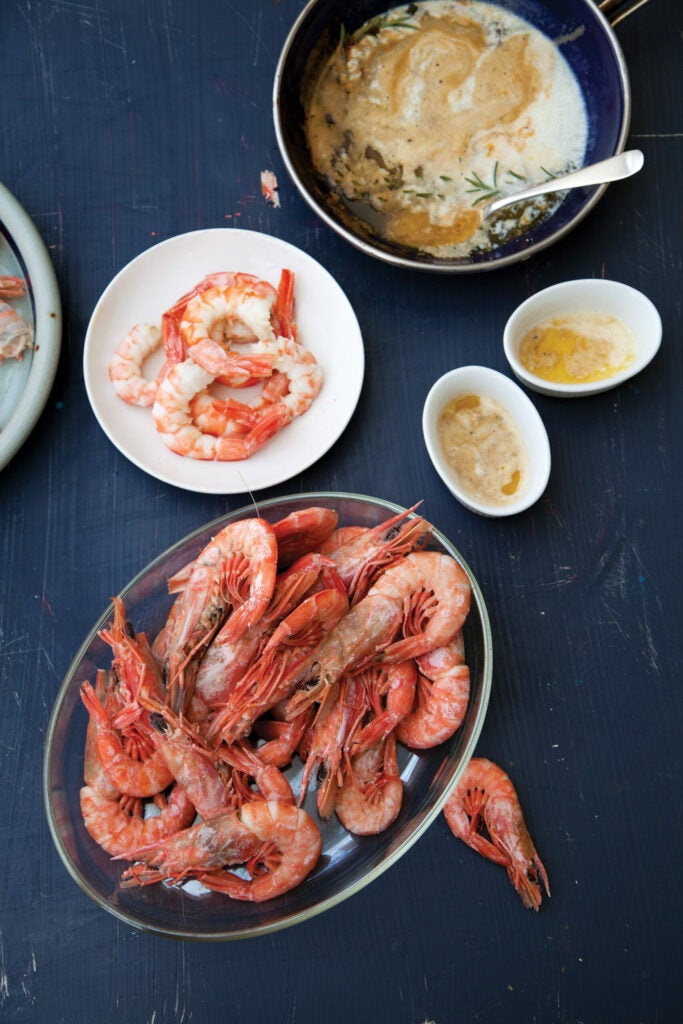 Shrimp With Spicy Herb Butter