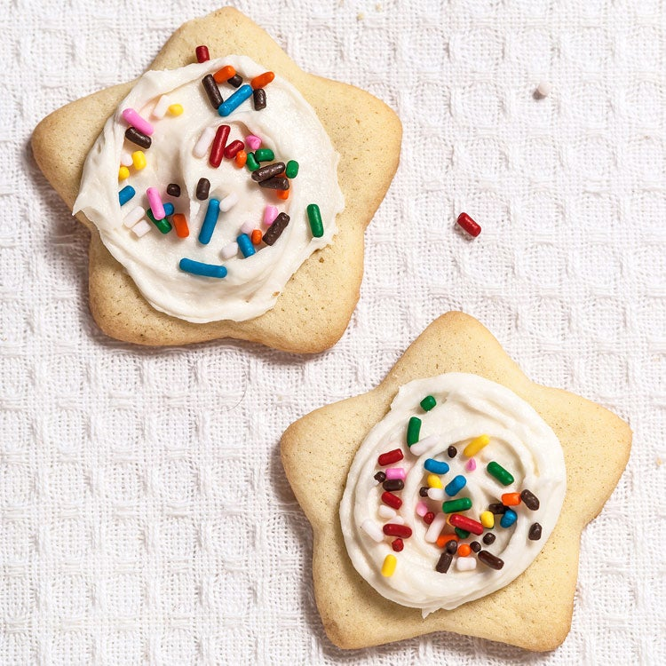 Soft Sugar Cookies with Almond Icing