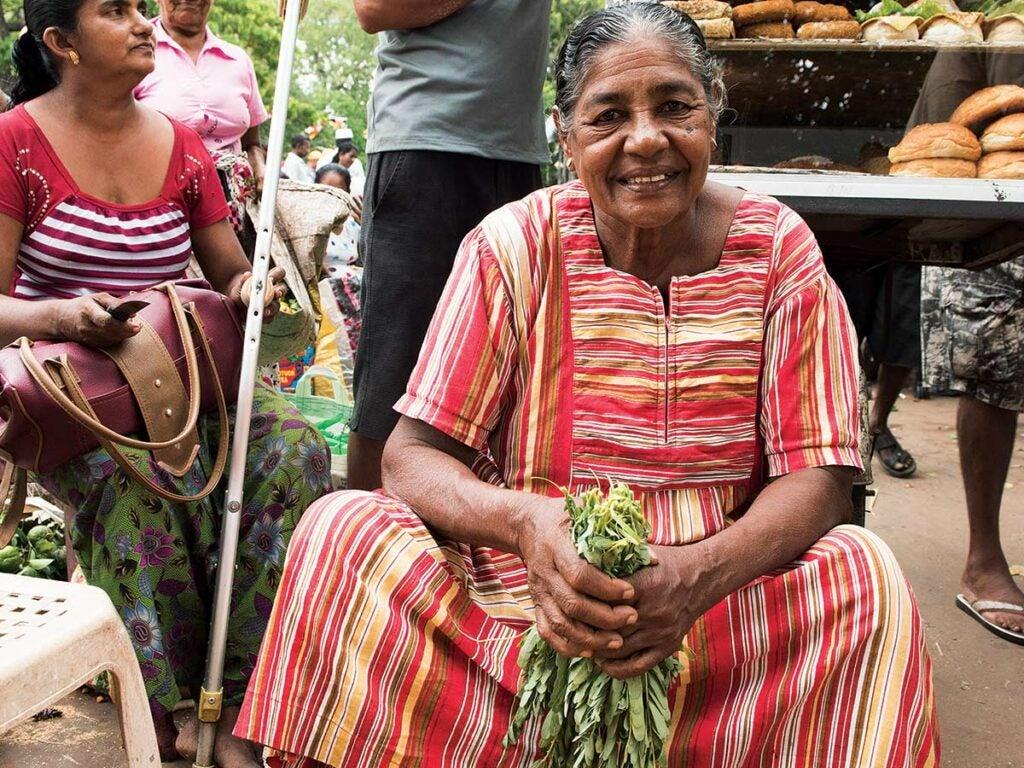 A vendor at Manning Market.