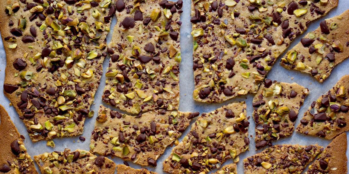 Pistachio Dark Chocolate Crisps