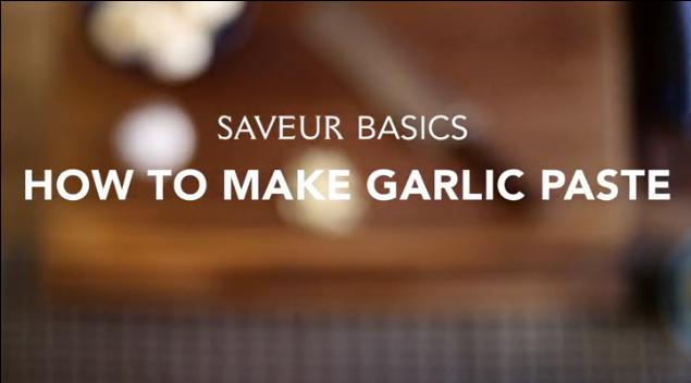 VIDEO: How to Make Garlic Paste