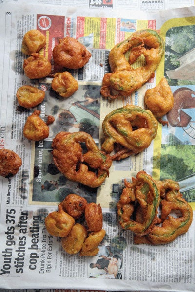 Batter-Fried Peppers and Bananas