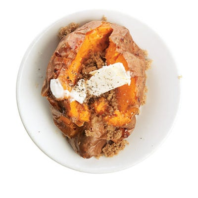 Baked Sweet Potatoes with Brown Sugar and Black Pepper