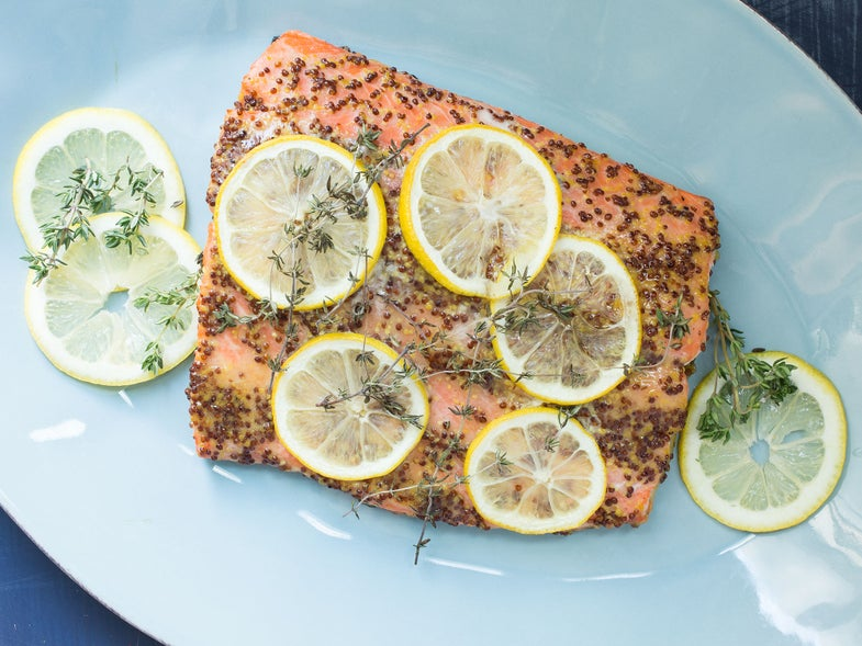 Roasted Salmon with Honey-Dijon Glaze