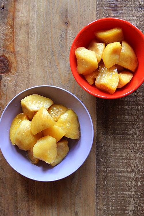 Nectarine Murabba with Cardamom, Lemon and Rosewater