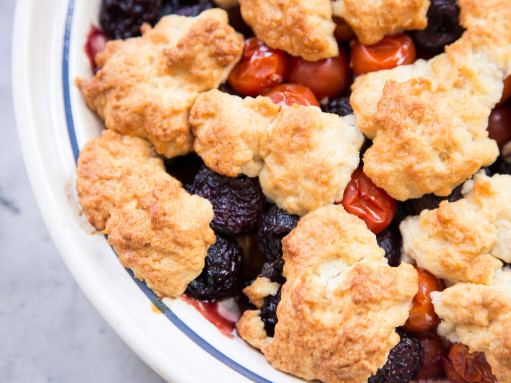 Cherry Tomato and Cherry Cobbler