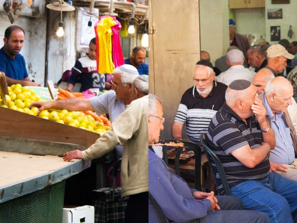 Market Stalls and Elderly Backgammon