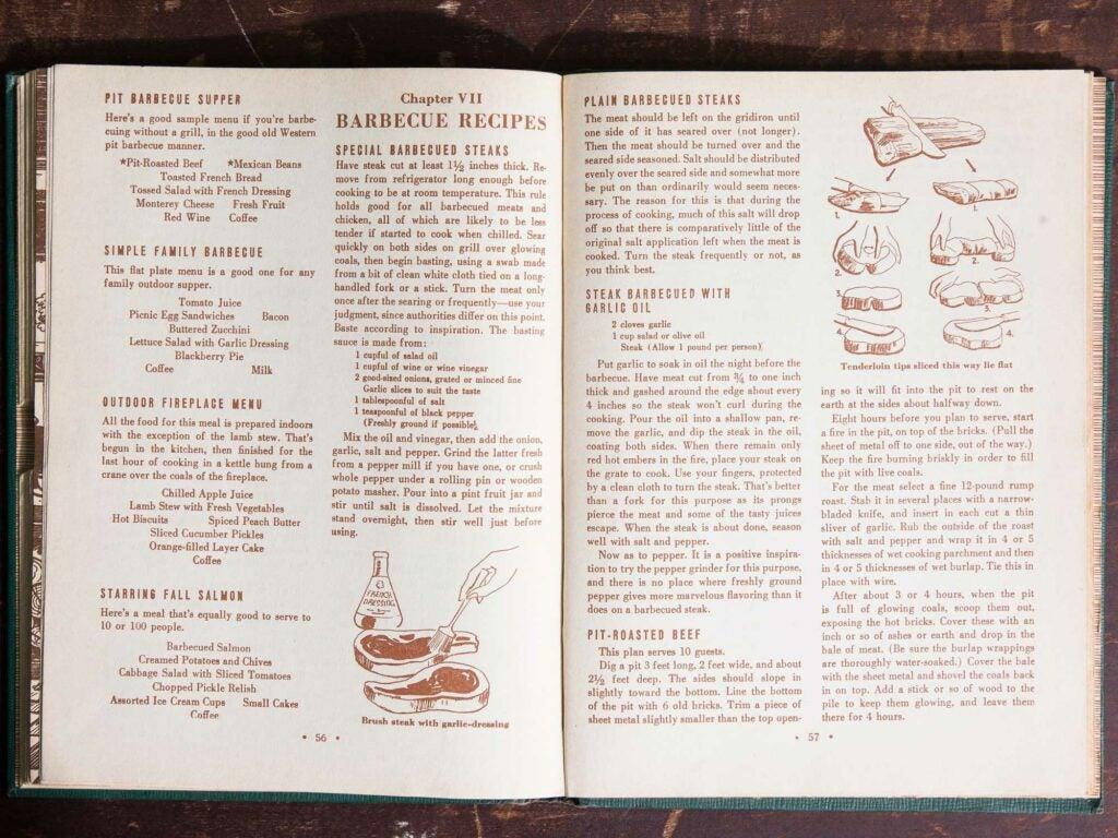 A spread of barbecue recipes