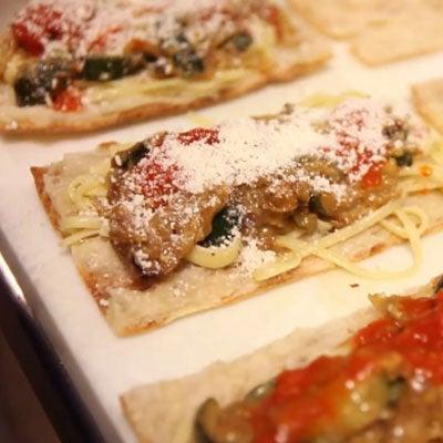 Zucchini and Pasta Sandwich