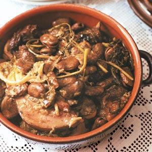 Dried Fava Bean and Pork Stew