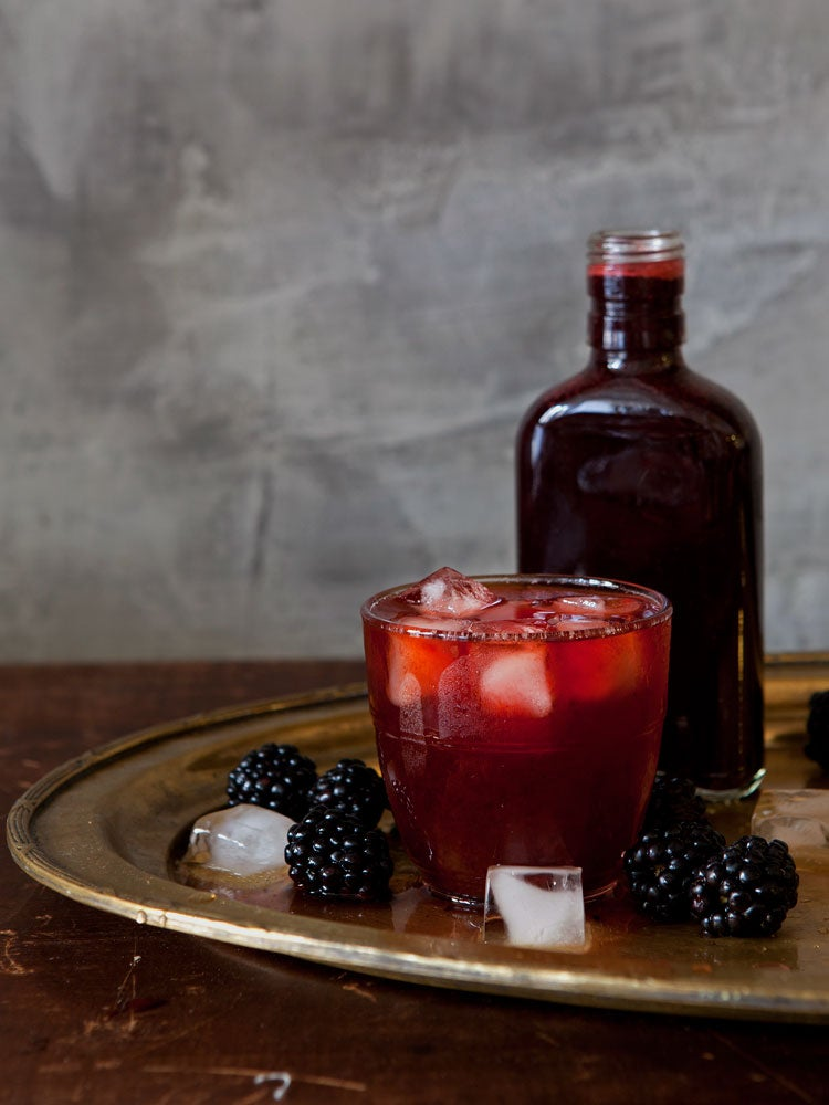 Summer Fruits with Wine and Spirits