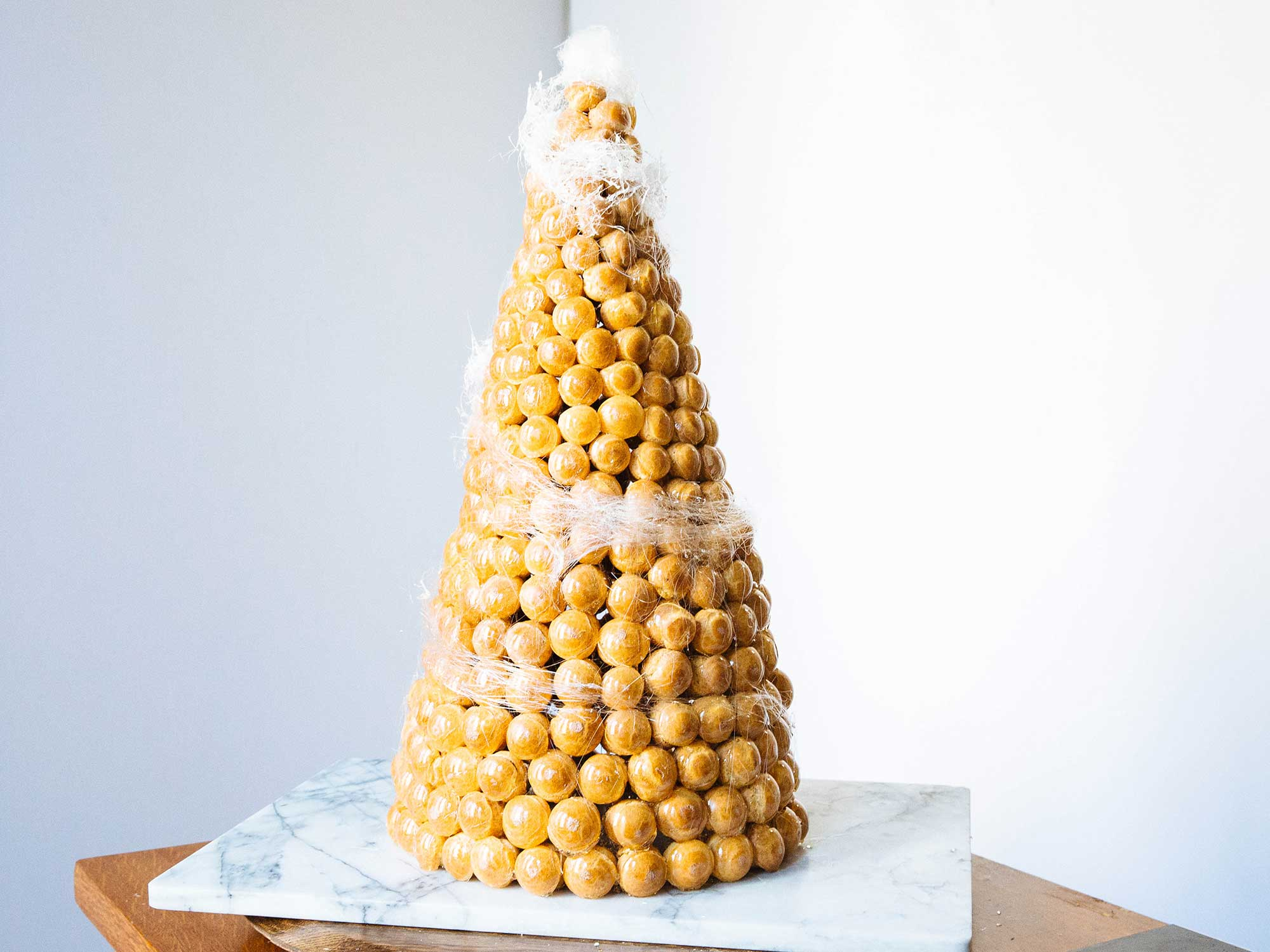 Watch a Massive French Pastry Tower Come Together in 90 Seconds