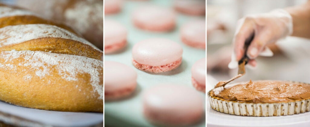 Guests are treated to freshly made baked goods and desserts every day