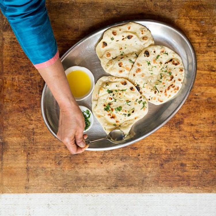 serving naan bread