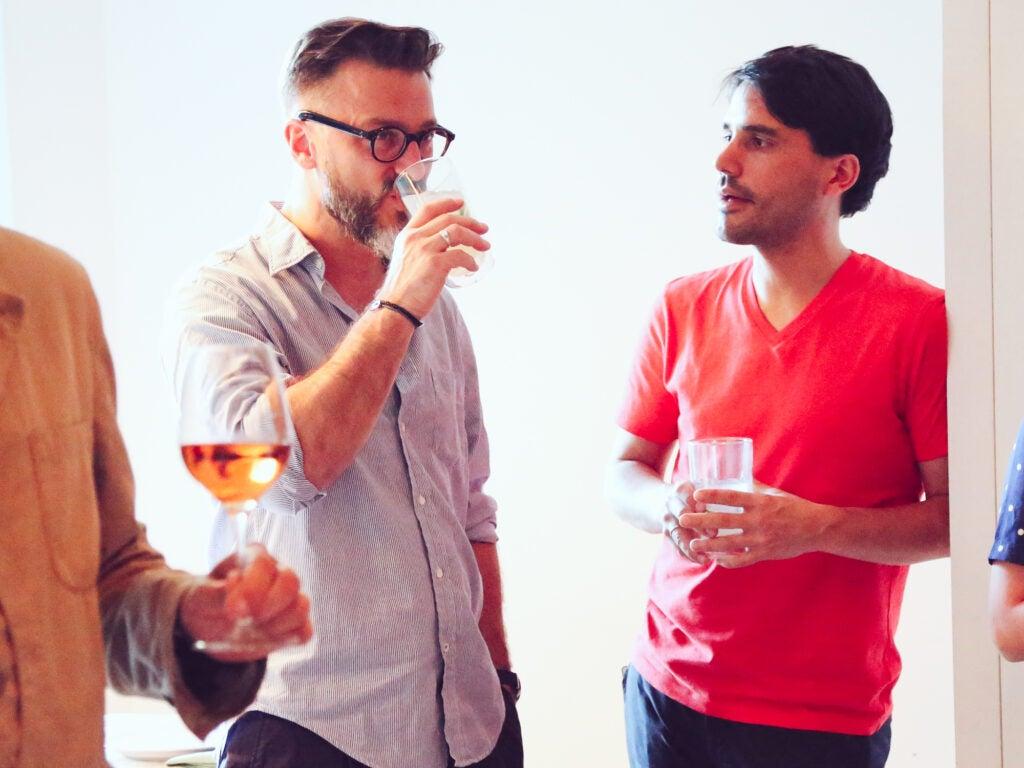 Chef Fernando Trocca with Martínez