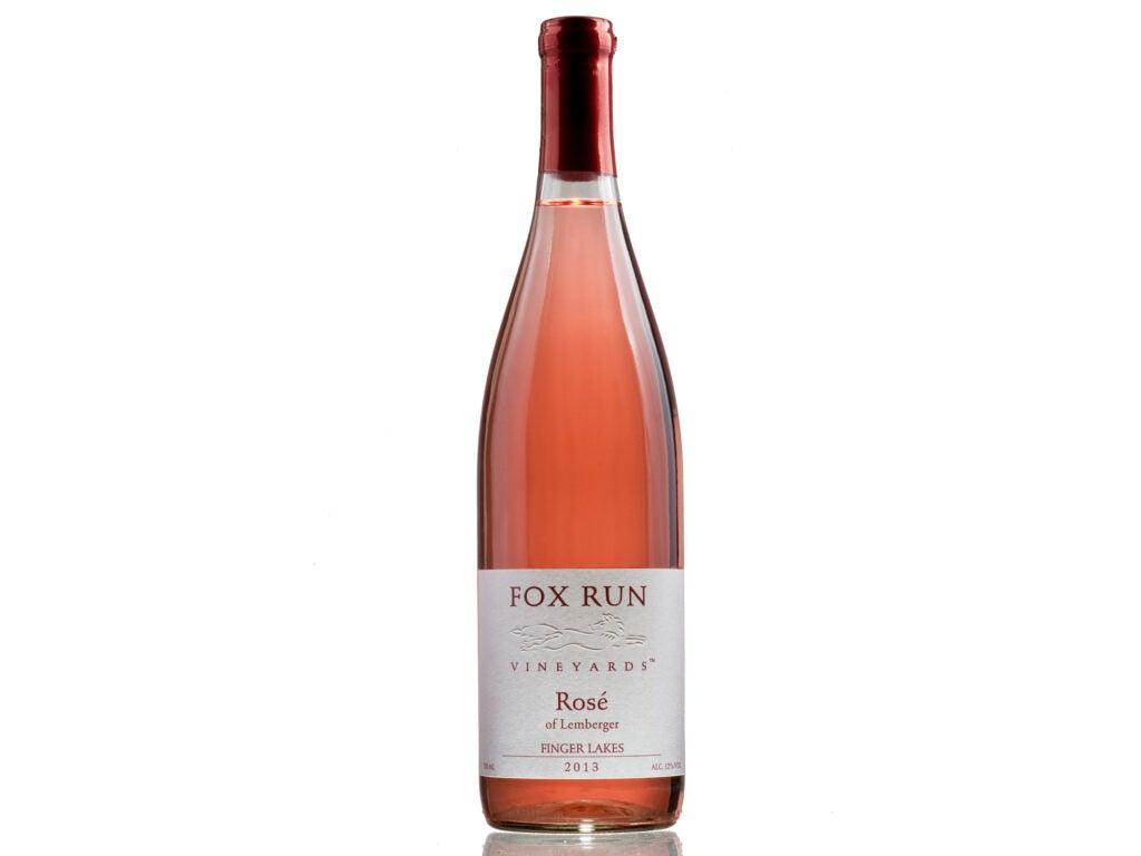 fox run rose wine bottle