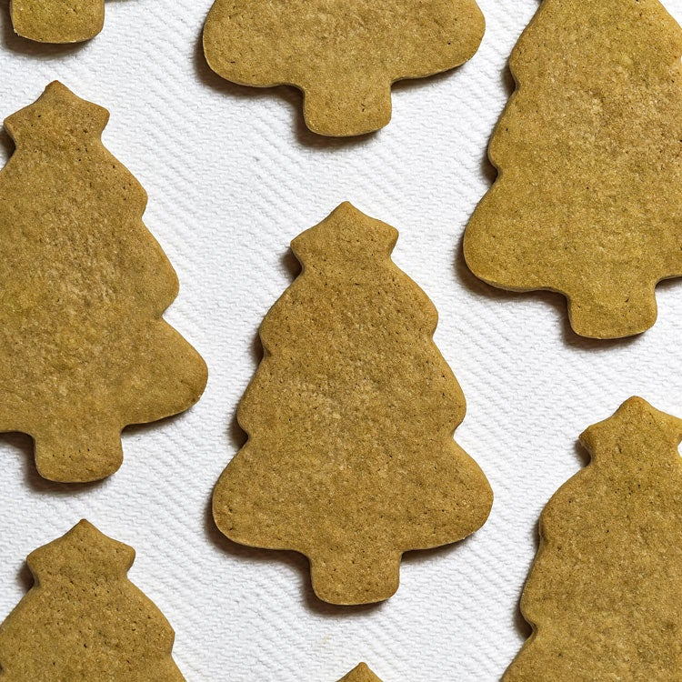 Green Tea Matcha Christmas Tree Cookies