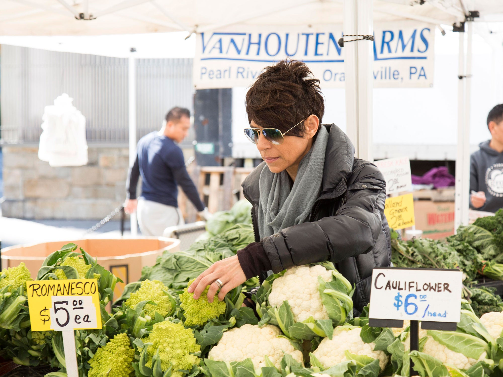 What Happens When You Set Dominique Crenn Loose in New York's Biggest Farmer's Market