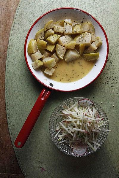 Butter-Braised Kohlrabi