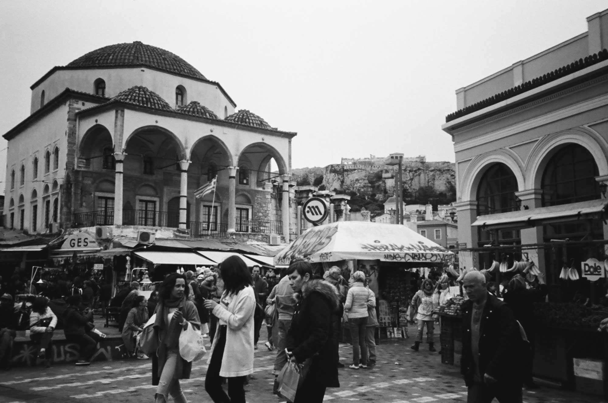 Forget Mediterranean Blue; Athens Looks Best in Black and White
