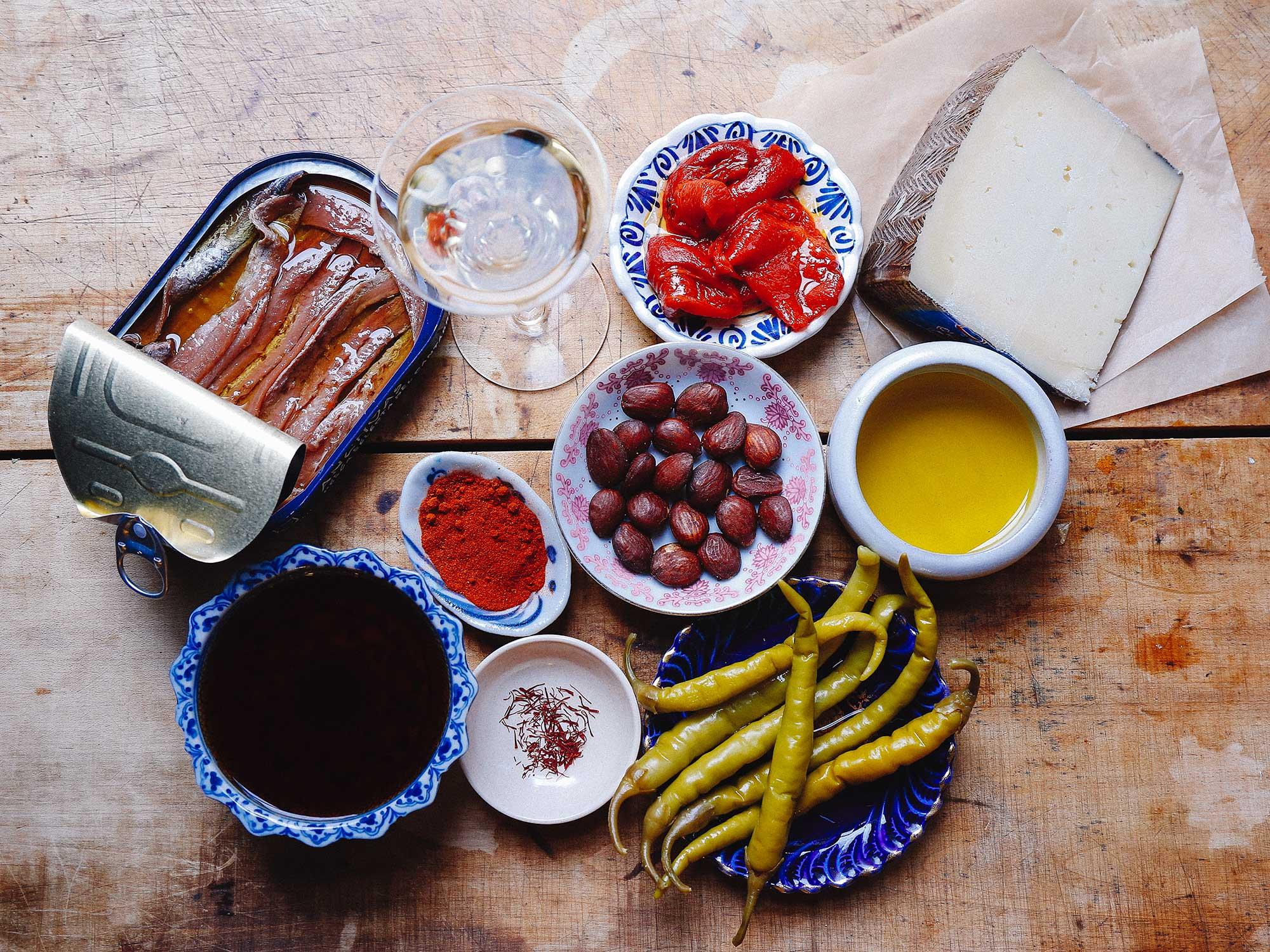 Traditional Spanish ingredients