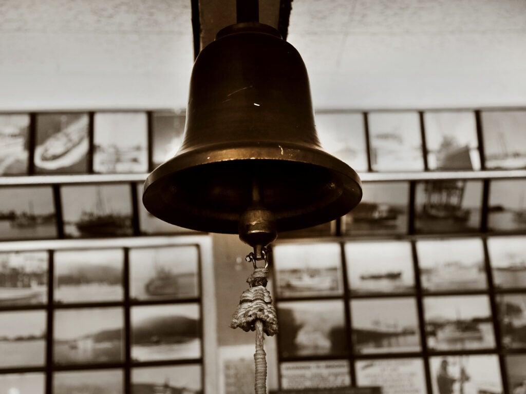 The bell, Pioneer Bar, Sitka, Alaska