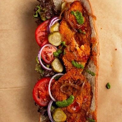 Israeli Schnitzel Sandwich