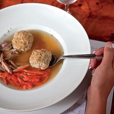 Knaidelach (Matzo Balls and Goose Soup)