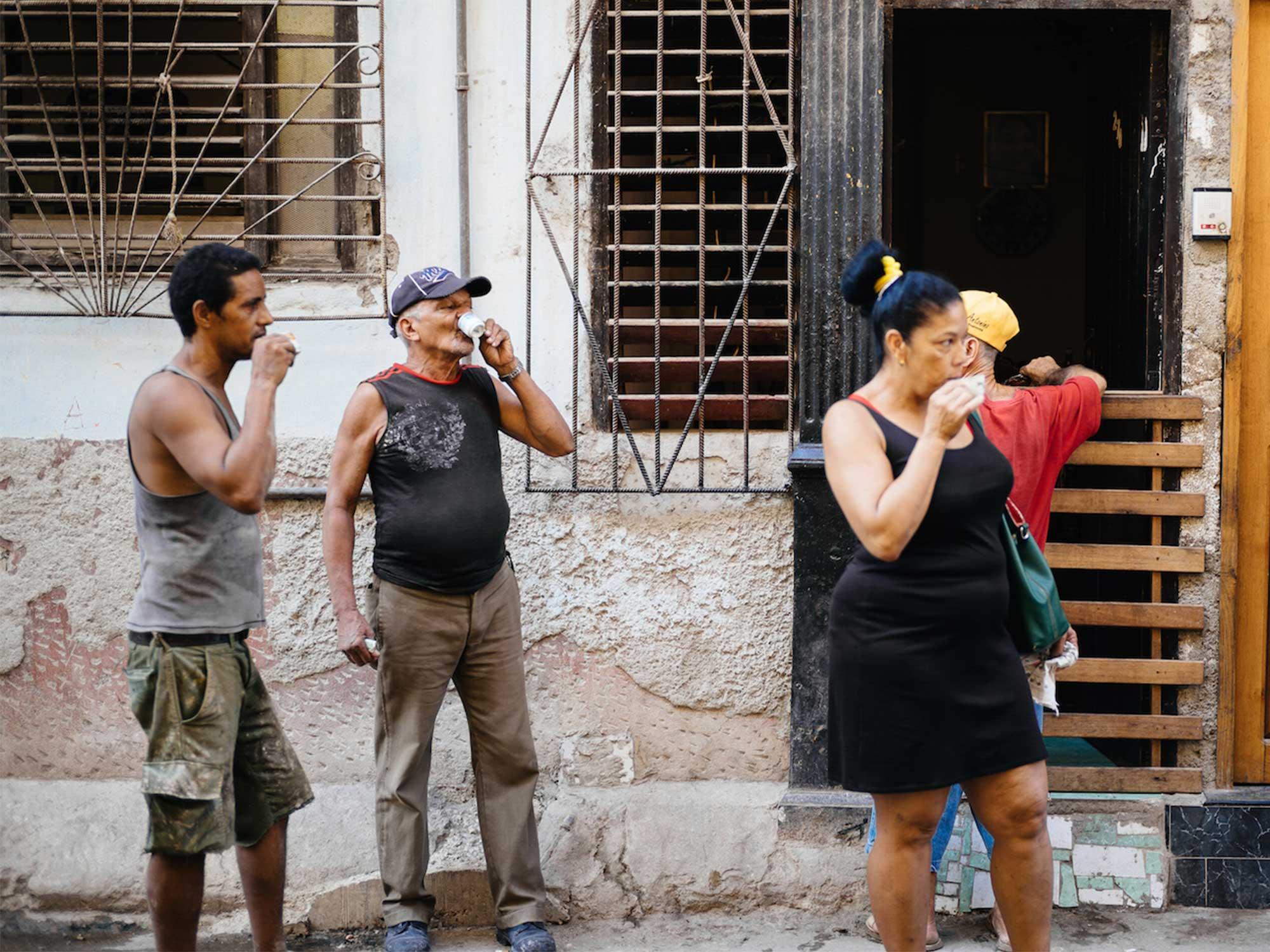 Getting coffee in Cuba