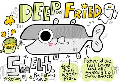 Recipe Comix: Deep-Fried Smelt