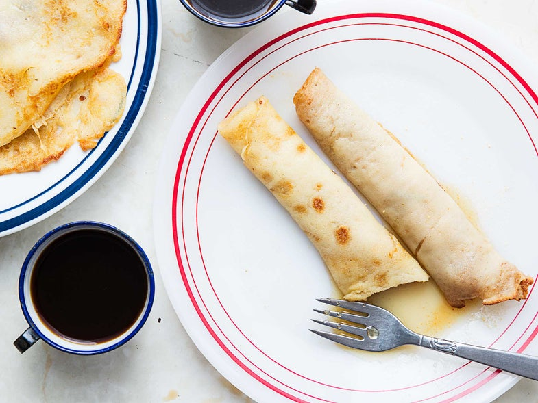 Crepes with Maple Sugar and Syrup