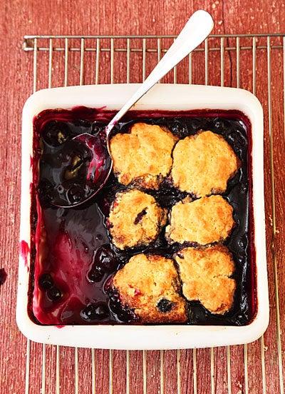 Blueberry-Cherry Cobbler