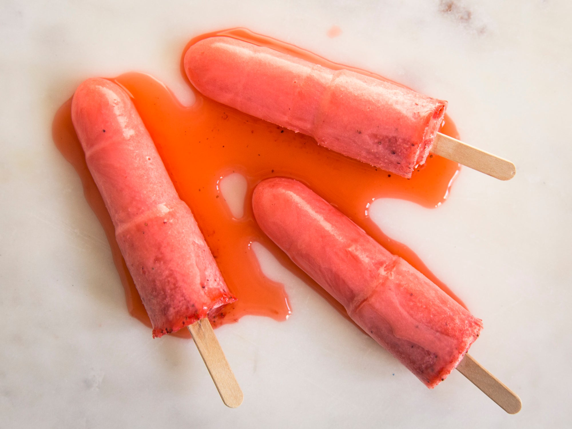 Strawberry Lemonade Ice-Pops