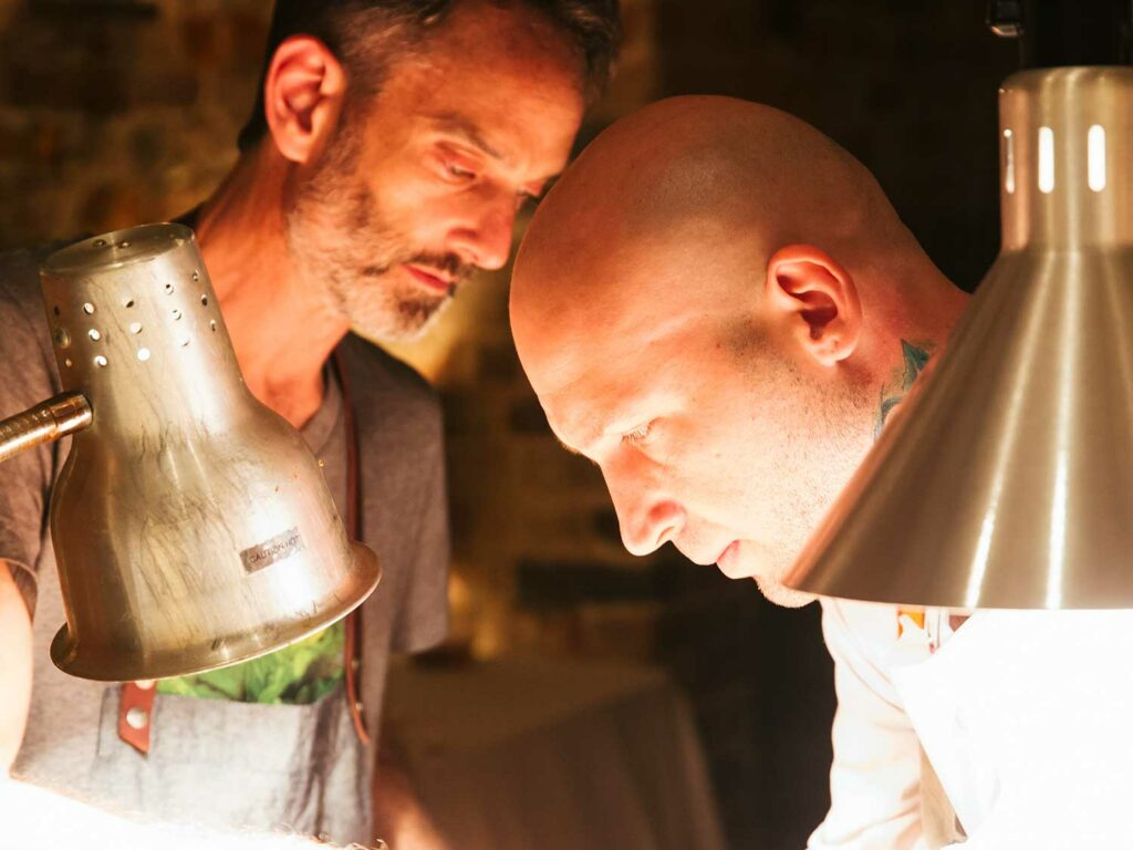 Chefs Steven Satterfield and Vinson Petrillo