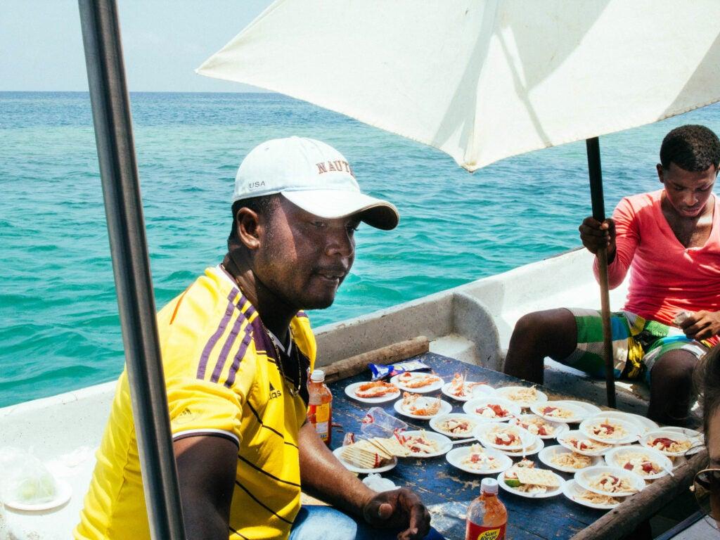 Boatside Ceviche; Cartagena, Columbia