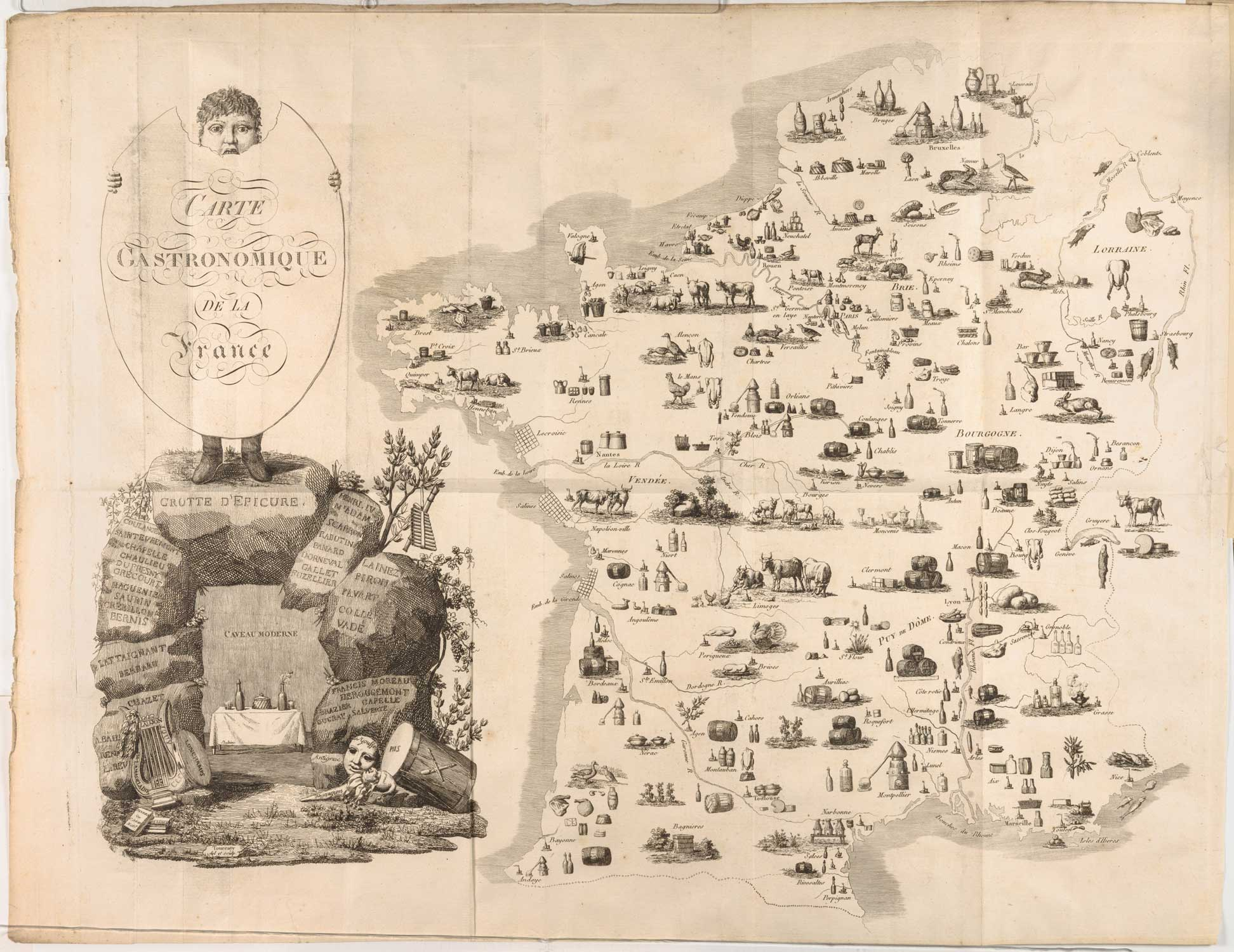 This 200-Year-Old Map Tells You Where All Your Favorite French Foods Come From
