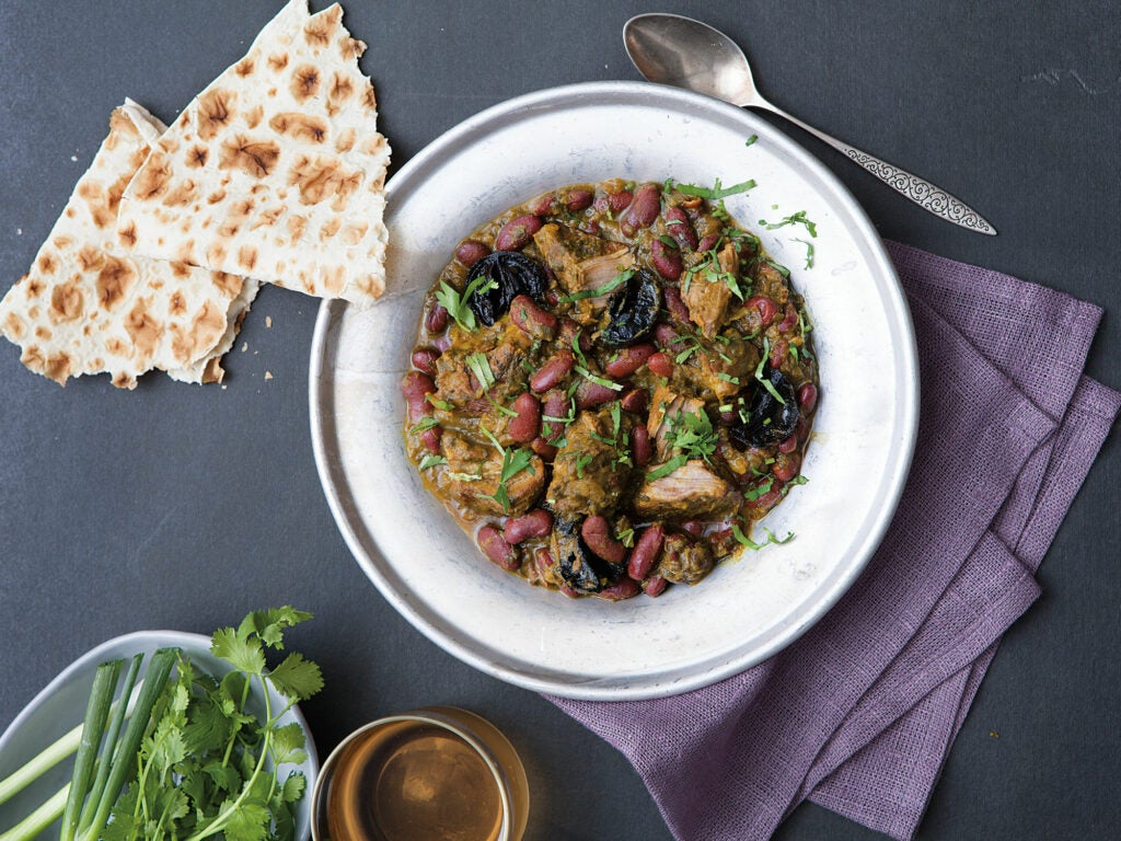 Veal and Kidney Bean Stew (Ghormeh Sabzi)