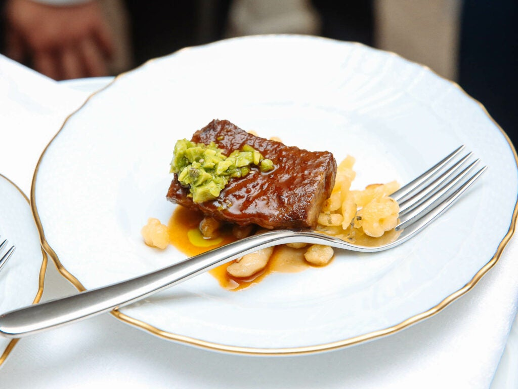 Chef Scott Conant's short rib was a highlight of the feast.