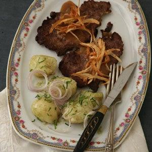 Austrian-Style Steak with Potato Salad