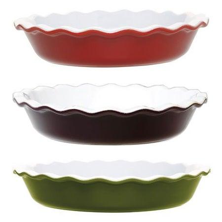 Fluted Ceramic Pie Dish