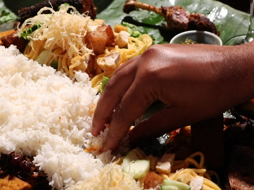 No Plates or Silverware Allowed at This Massive Indonesian Feast